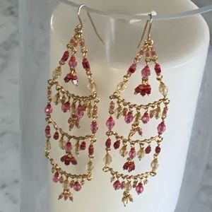 Stunning colorful chandelier earrings